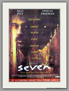 Seven. The Film. Vintage Advert 1996 (ref AD9500)