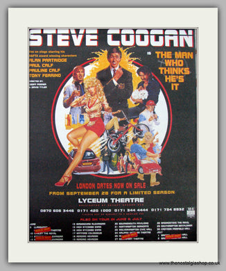 Steve Coogan. The Man Who Thinks He's It. Vintage Advert 1998 (ref AD9503)