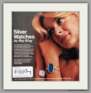 Roy King Watches. Original Advert 1975.  (ref AD7644)