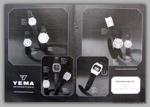 Yema Watches. Original Advert 1979.  (ref AD7665)