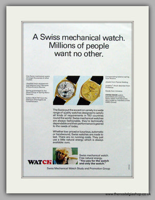 Watch Swiss Watches. Original Advert 1979.  (ref AD7666)