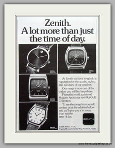 Zenith Watches. Original Advert 1979.  (ref AD7668)