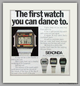 Sekonda Watches. Original Advert 1979.  (ref AD7669)