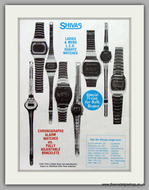 Shivas Quartz Watches. Original Advert 1979.  (ref AD7673)