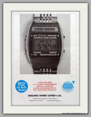 Shivas Quartz Watches. Original Advert 1980.  (ref AD7674)