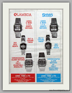 Lambda & Shivas Watches. Original Advert 1979.  (ref AD7675)