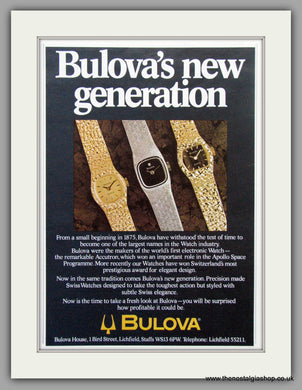 Bulova Watches. Original Advert 1980.  (ref AD7676)