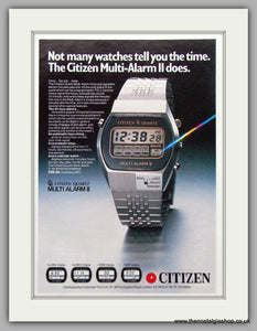 Citizen Multi Alarm II Watches. Original Advert 1979.  (ref AD7677)