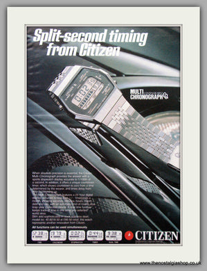 Citizen Multi Chronograph Watches. Original Advert 1979.  (ref AD7678)