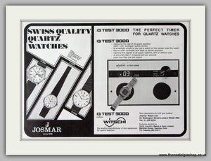 Josmar Watches. Original Advert 1979.  (ref AD7681)