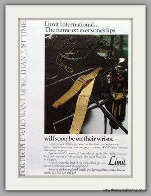 Limit Watches. Original Advert 1979.  (ref AD7682)
