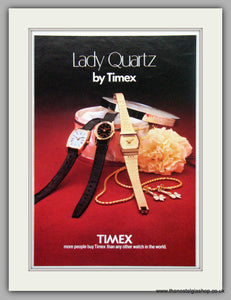 Timex Lady Quartz Watches. Original Advert 1980.  (ref AD7683)
