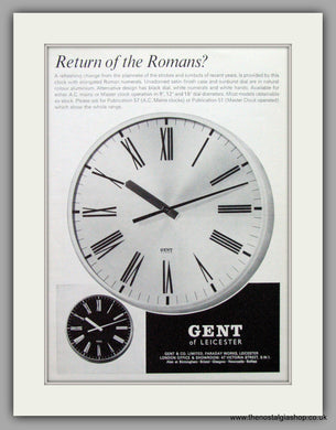 Gent Clocks. Original Advert 1970.  (ref AD7713)