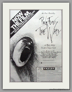 Pink Floyd. The Wall. Now The Film. Vintage Advert 1982 (ref AD9504)