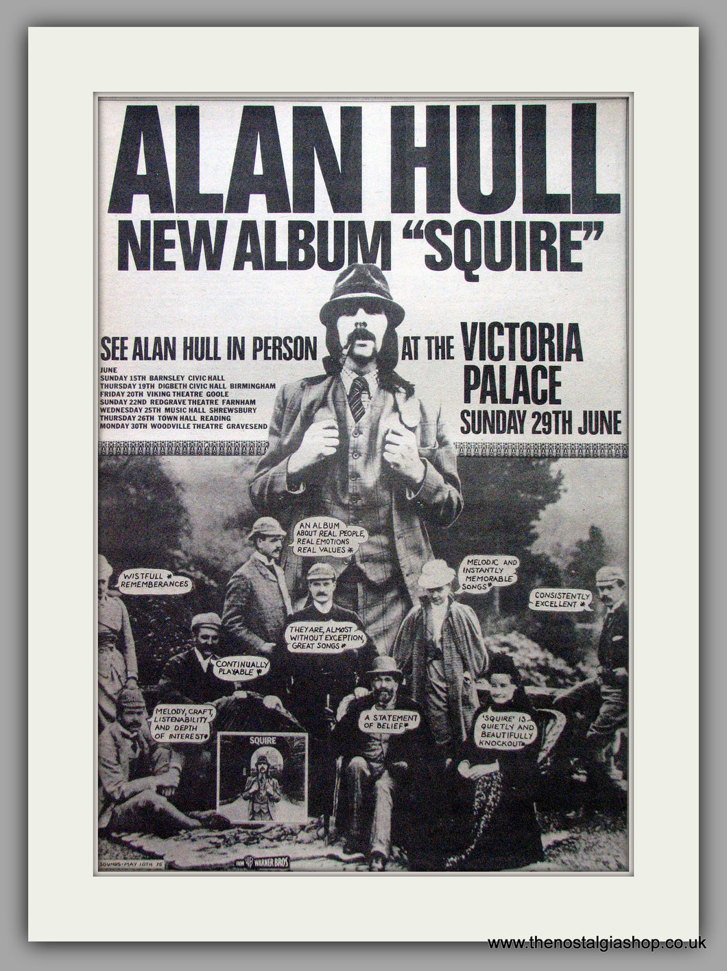 Alan Hull. Squire. Vintage Advert 1975 (ref AD9528)