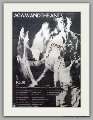 Adam And The Ants. Zerox. Vintage Advert 1979 (ref AD9531)