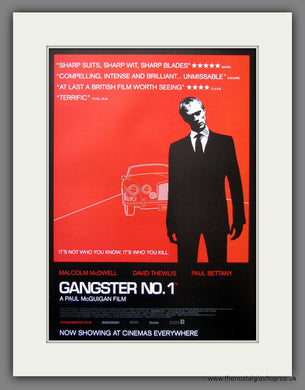 Gangster No: 1.  2000 Original Advert (ref AD54914)
