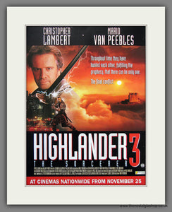 Highlander 3. 1994 Original Advert (ref AD54927)