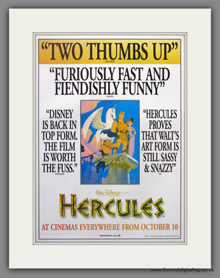 Hercules. 1997 Original Advert (ref AD54929)