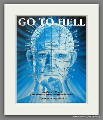Go To Hell. 1991 Original Advert (ref AD54930)