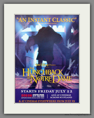 The Hunchback Of Notre Dame. 1996 Original Advert (ref AD54932)