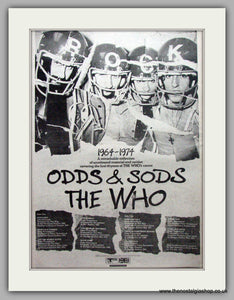 Who (The) Odds and Sods 1964-1974. Vintage Advert 1974 (ref AD9559)