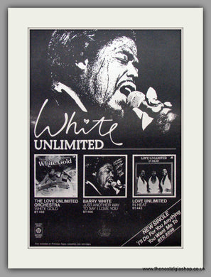 Barry White. Unlimited. Vintage Advert 1975 (ref AD9571)