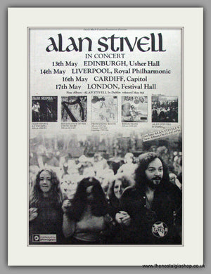Alan Stivell In Concert, UK Tour. Vintage Advert 1975 (ref AD9574)