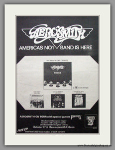 Aerosmith. Rocks. Vintage Advert 1976 (ref AD9627)