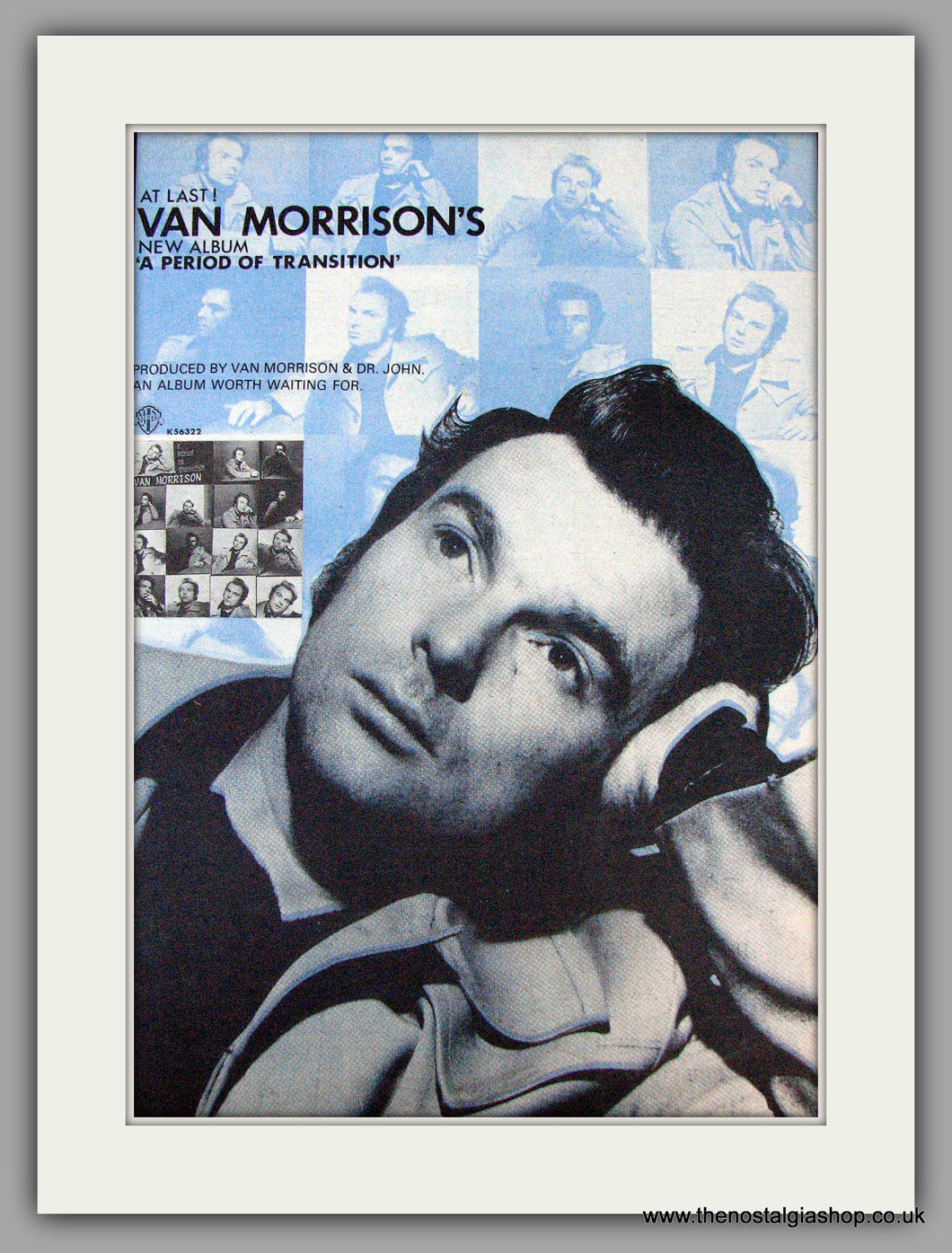 Van Morrison. A Period of Transition. Original Advert 1977 (ref AD9116)