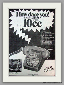10cc. How Dare You. Vintage Advert 1976 (ref AD9763)