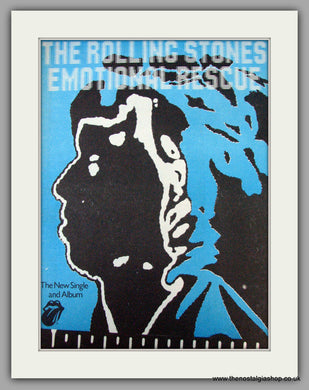 Rolling Stones. Emotional Rescue. Vintage Advert 1980 (ref AD9796)