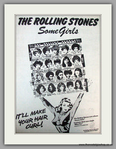 Rolling Stones. Some Girls. Vintage Advert 1978 (ref AD9797)