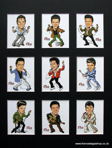 Elvis Presley. Mounted Card Set