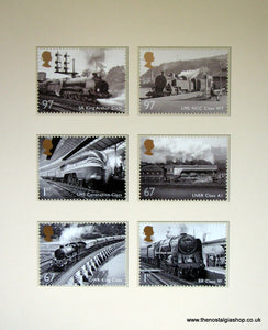 Railway Engines. Mounted Card Set
