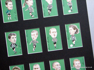 Newcastle United Legends. Football Card Set