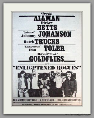 Allman Brothers. Enlightened Rogues. Vintage Advert 1979 (ref AD9932)