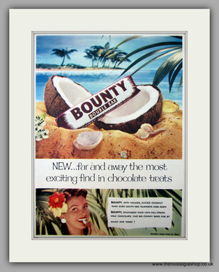 Bounty Double Bar. Original Advert 1954 (ref AD9989)