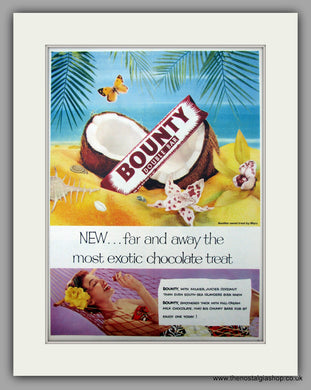 Bounty Double Bar. Original Advert 1955 (ref AD9990)