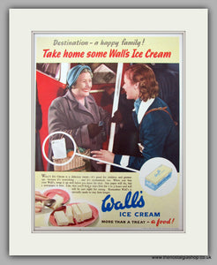 Wall's Ice Cream. Original Advert 1951 (ref AD9993)