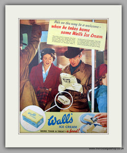 Wall's Ice Cream. Original Advert 1952 (ref AD9994)