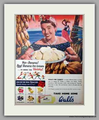 Wall's Ice Cream. Original Advert 1955 (ref AD9999)