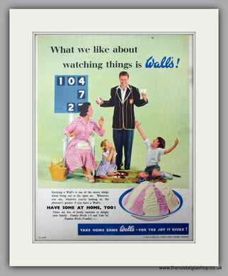 Wall's Ice Cream. Original Advert 1956 (ref AD10000)