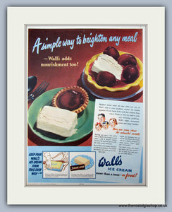 Wall's Ice Cream. Original Advert 1950 (ref AD10001)
