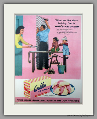 Wall's Ice Cream. Original Advert 1957 (ref AD10004)