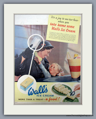Wall's Ice Cream. Original Advert 1952 (ref AD10005)