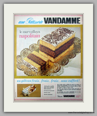 Vandamme Napolitain Gateau. Original Advert 1957 (ref AD10007)