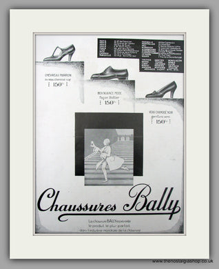 Chaussures Bally. French Footwear.  Original Vintage Advert 1929 (ref AD10109)