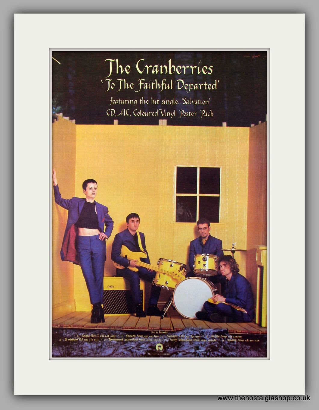 Cranberries (The) To The Faithful Departed.  Original Vintage Advert 1996 (ref AD10157)