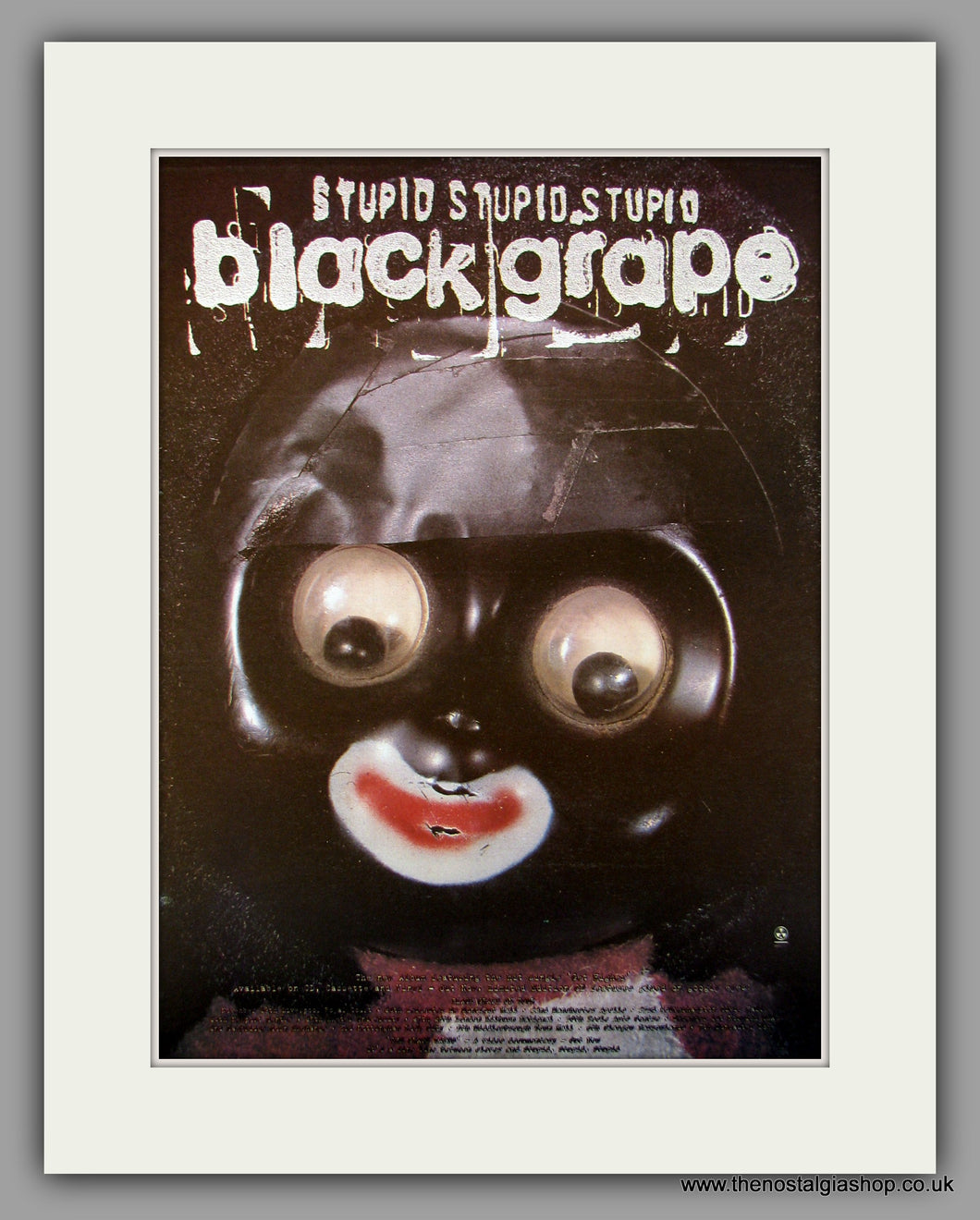 Black Grape Stupid Stupid Stupid.  Original Vintage Advert 1997 (ref AD10161)